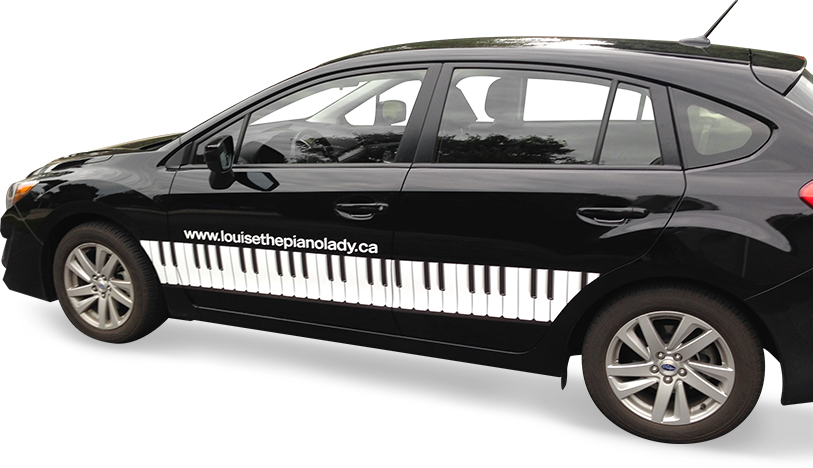Louise the Piano Lady's car
