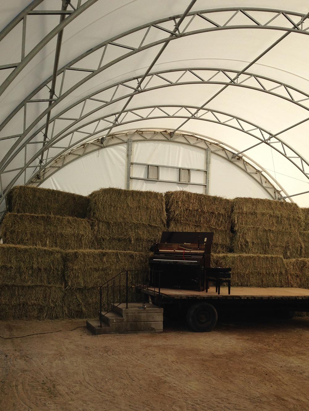 Piano in the barn
